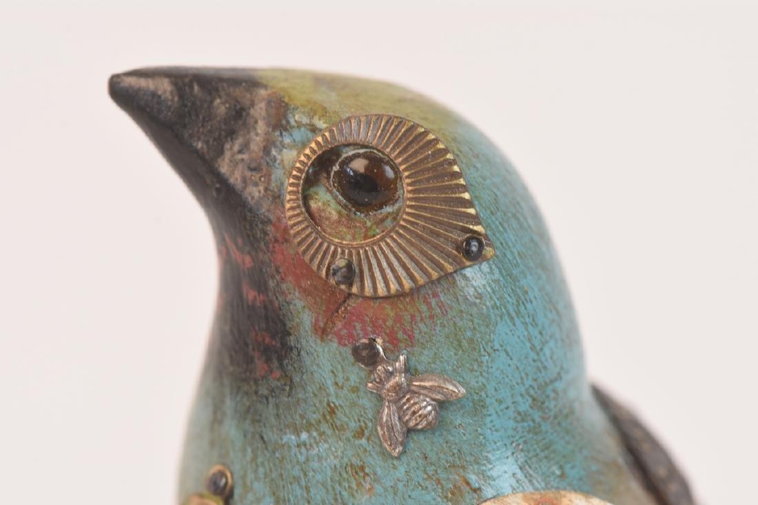 Pair of Mullanium Decoy Birds Mullan Steampunk - 7