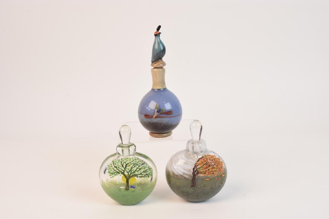 Matthew Buechner Art Glass Perfume Bottles