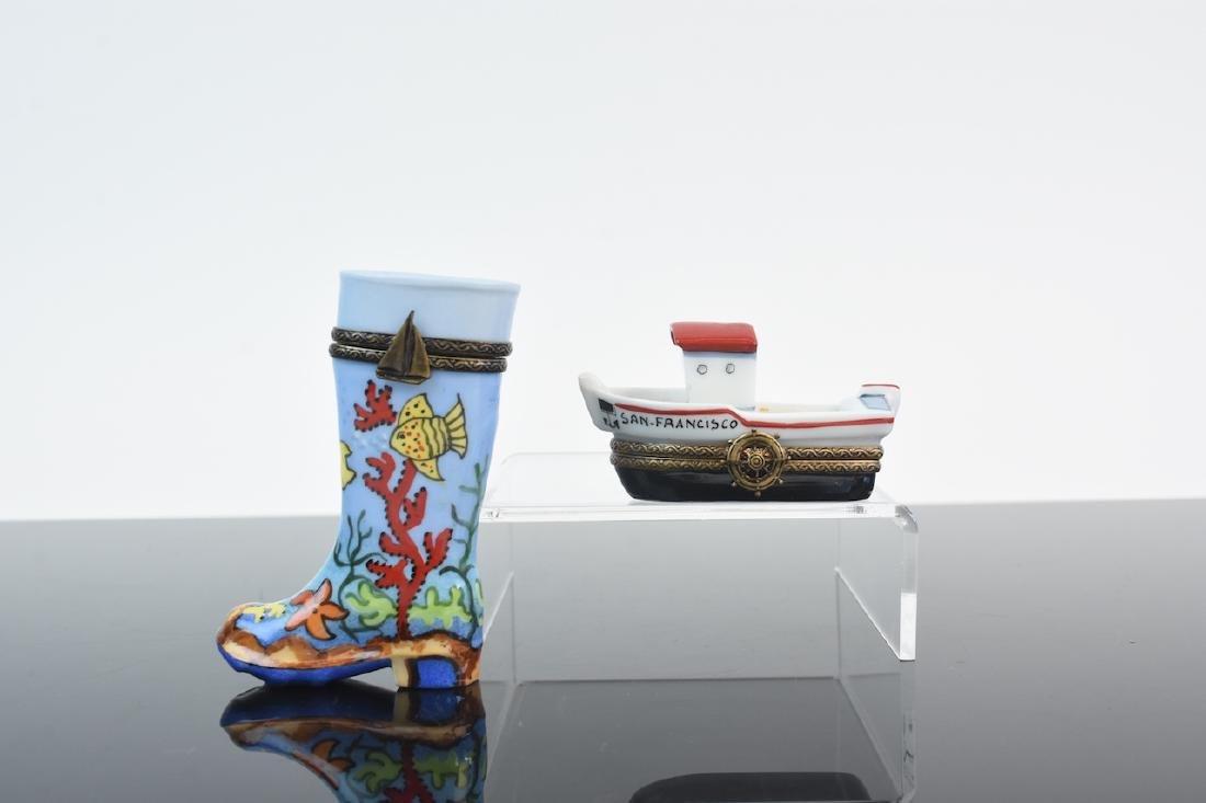 (2) Limoges Porcelain Pill Boxes