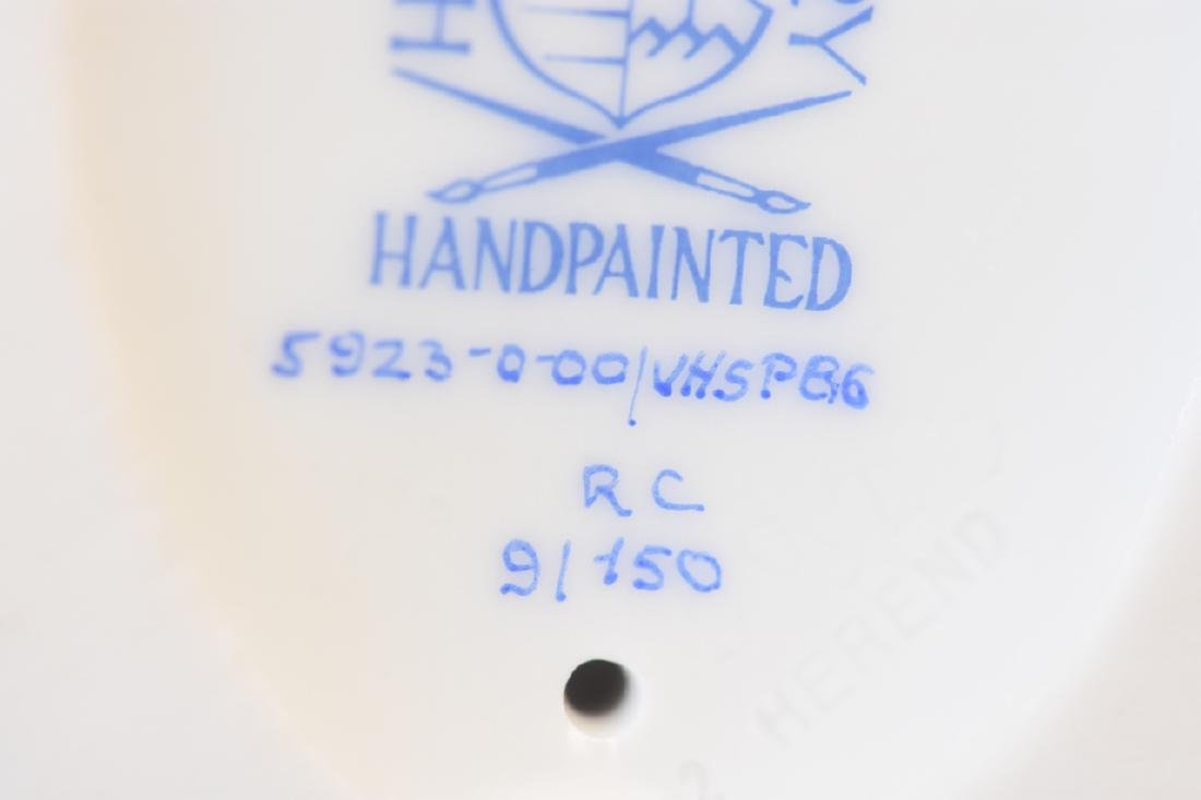 RARE Herend Fox & Hound Porcelain Fishnet Figurine - 10
