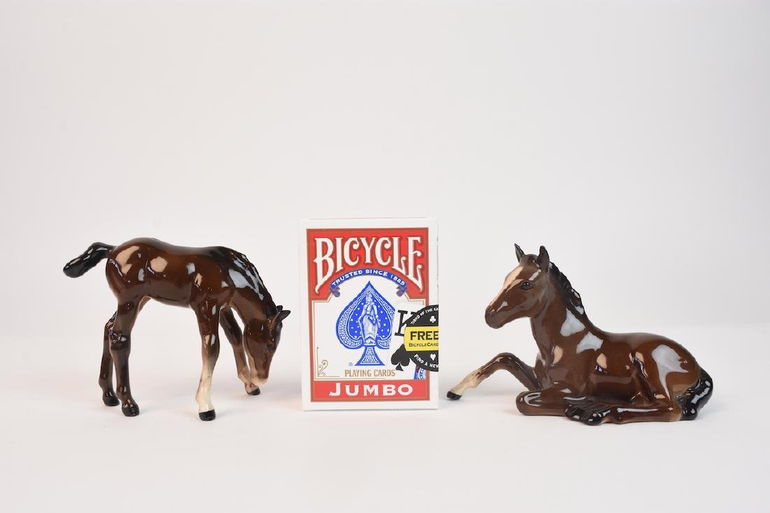 (2) Beswick Ceramic Horse Figurines - 8