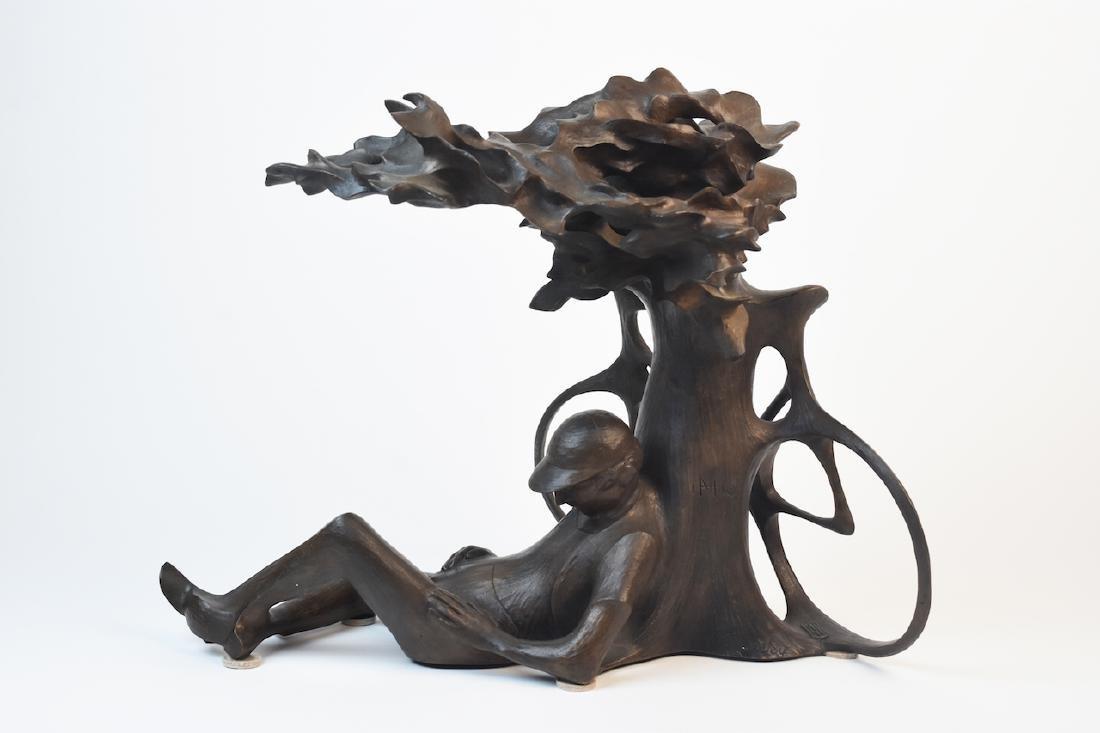"Harry Marinsky Cast Bronze Statue ""Mountain Solitude"""