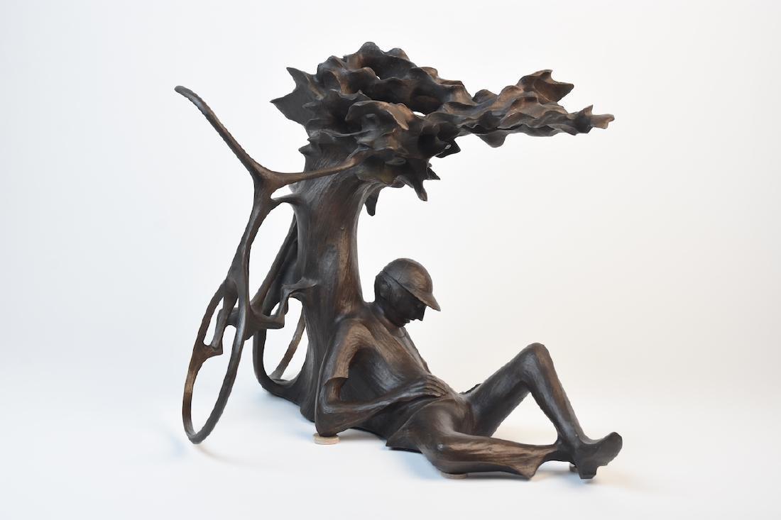 "Harry Marinsky Cast Bronze Statue ""Mountain Solitude"" - 2"