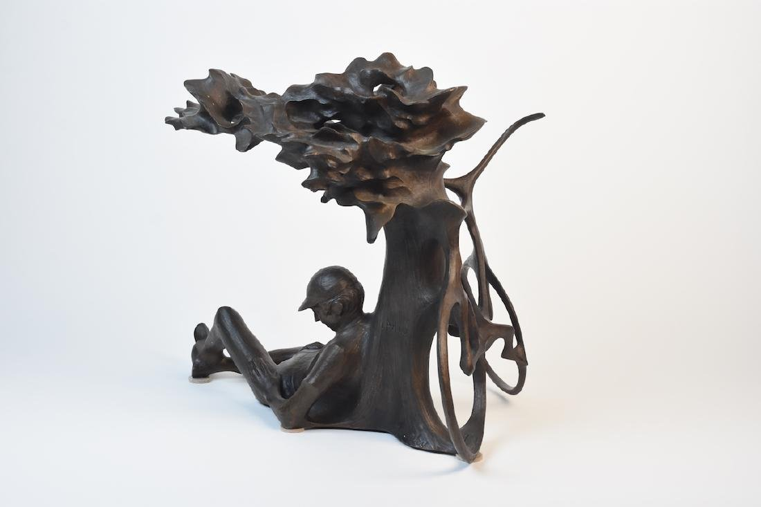 "Harry Marinsky Cast Bronze Statue ""Mountain Solitude"" - 4"