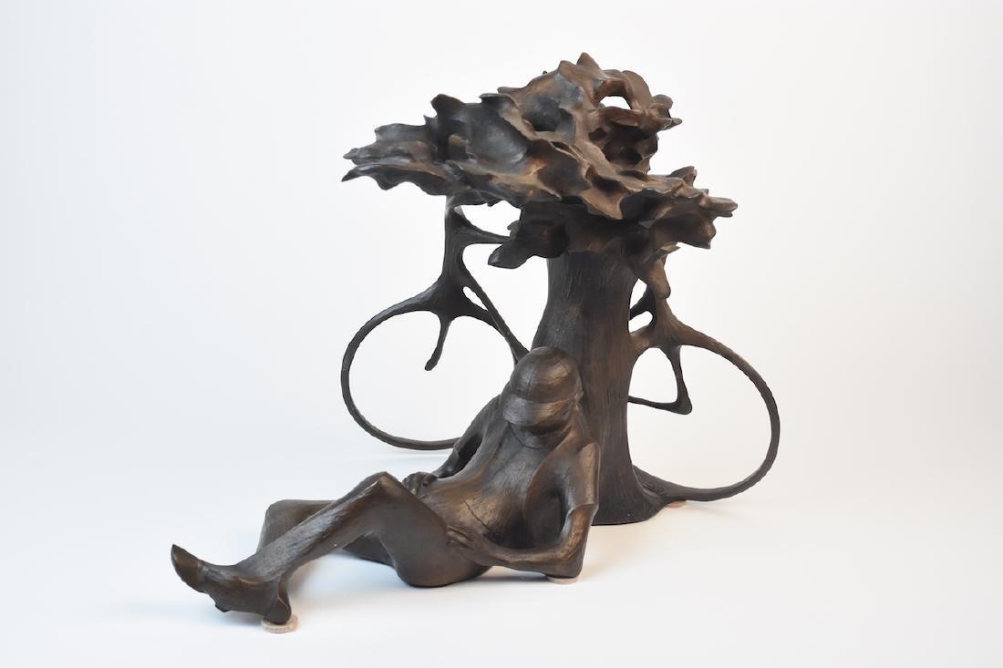 "Harry Marinsky Cast Bronze Statue ""Mountain Solitude"" - 5"