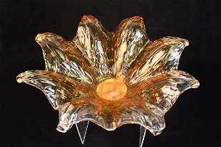 Murano Art Glass Flower Console Bowl