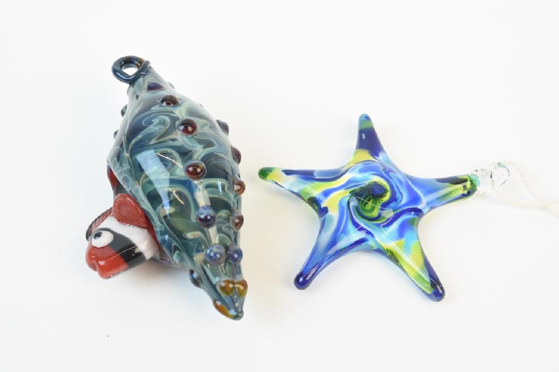 (17) Hand Blown Glass Sea Life Ornaments - 3