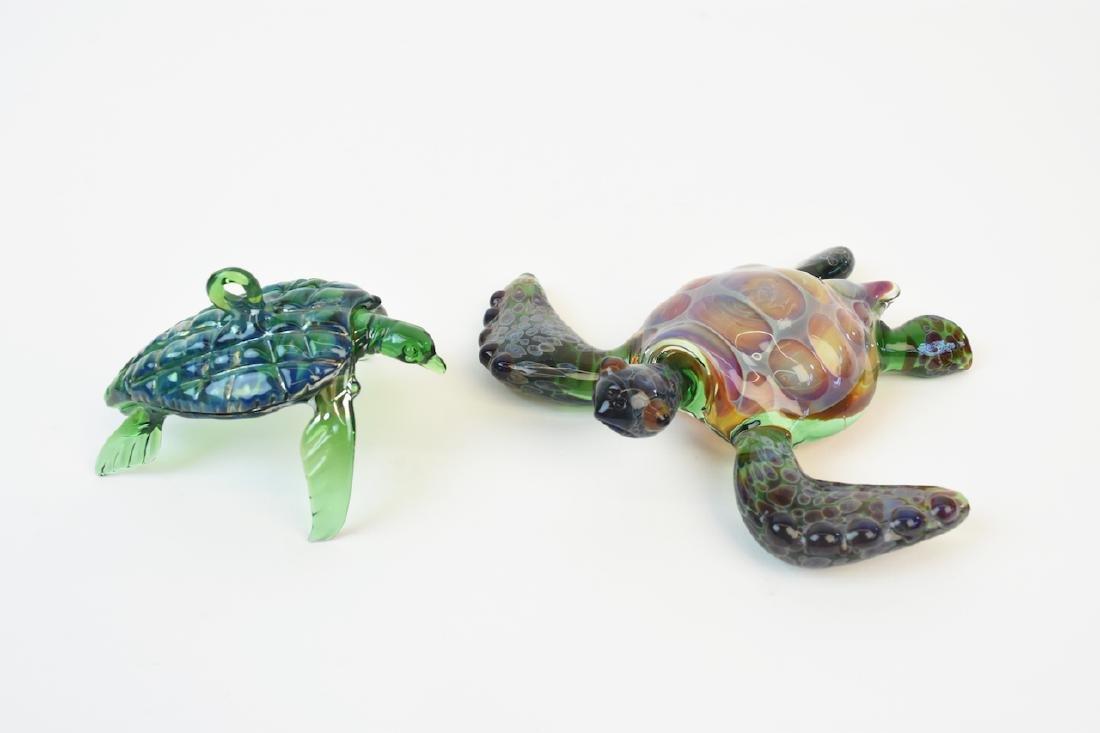 (17) Hand Blown Glass Sea Life Ornaments - 4
