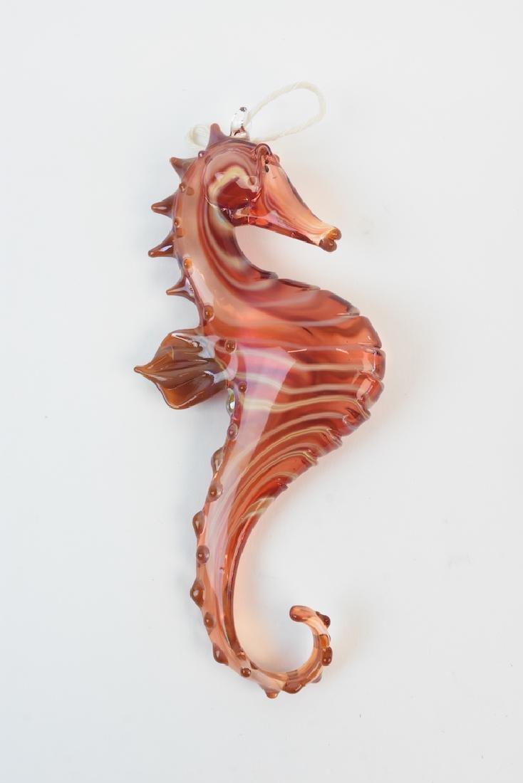 (17) Hand Blown Glass Sea Life Ornaments - 9