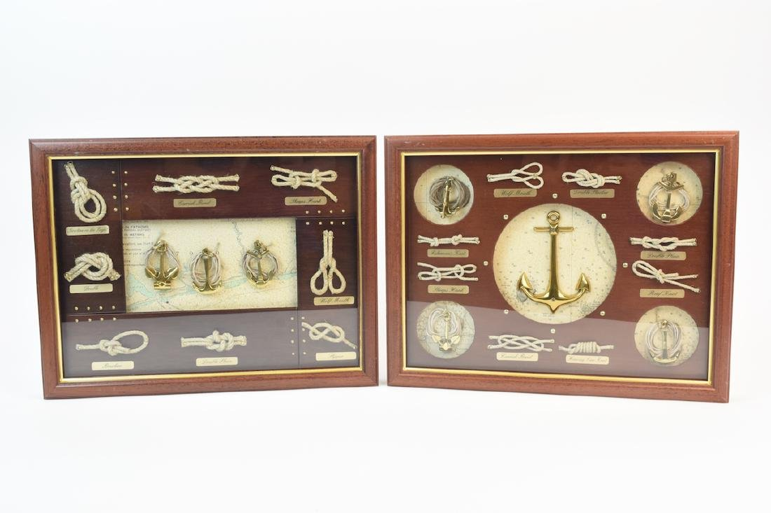 Pair of Shadow Boxes w/ Sailor Knot Variations