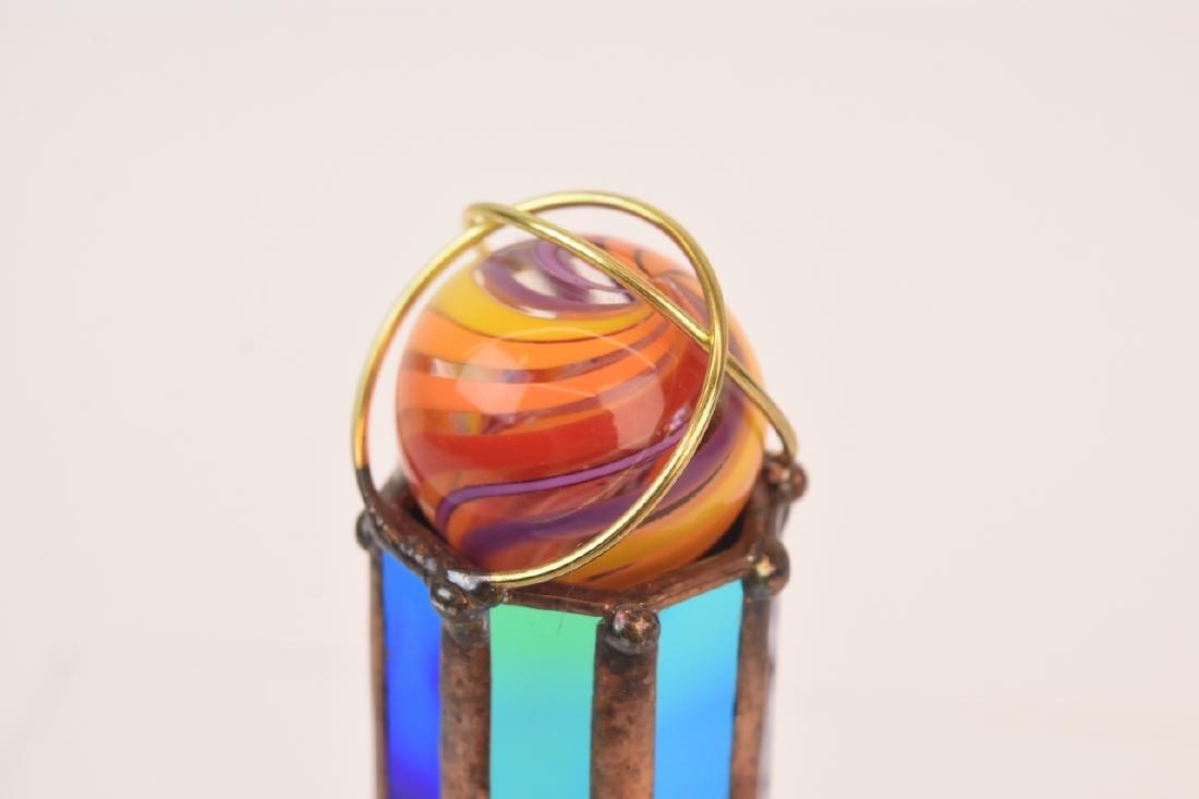 Pocket-Sized Marble Topped Dichroic Glass Kaleidoscope - 2