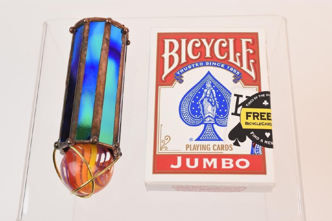 Pocket-Sized Marble Topped Dichroic Glass Kaleidoscope - 5