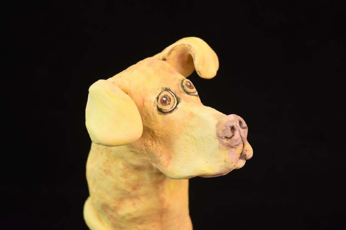 (5) Sharon Sheinbart Clay Standing Dog Figurines - 2
