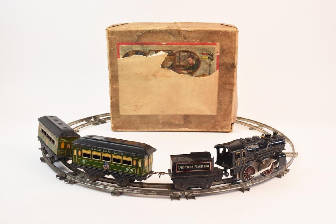 Prewar Tinplate American Flyer Wind-up Train Toy