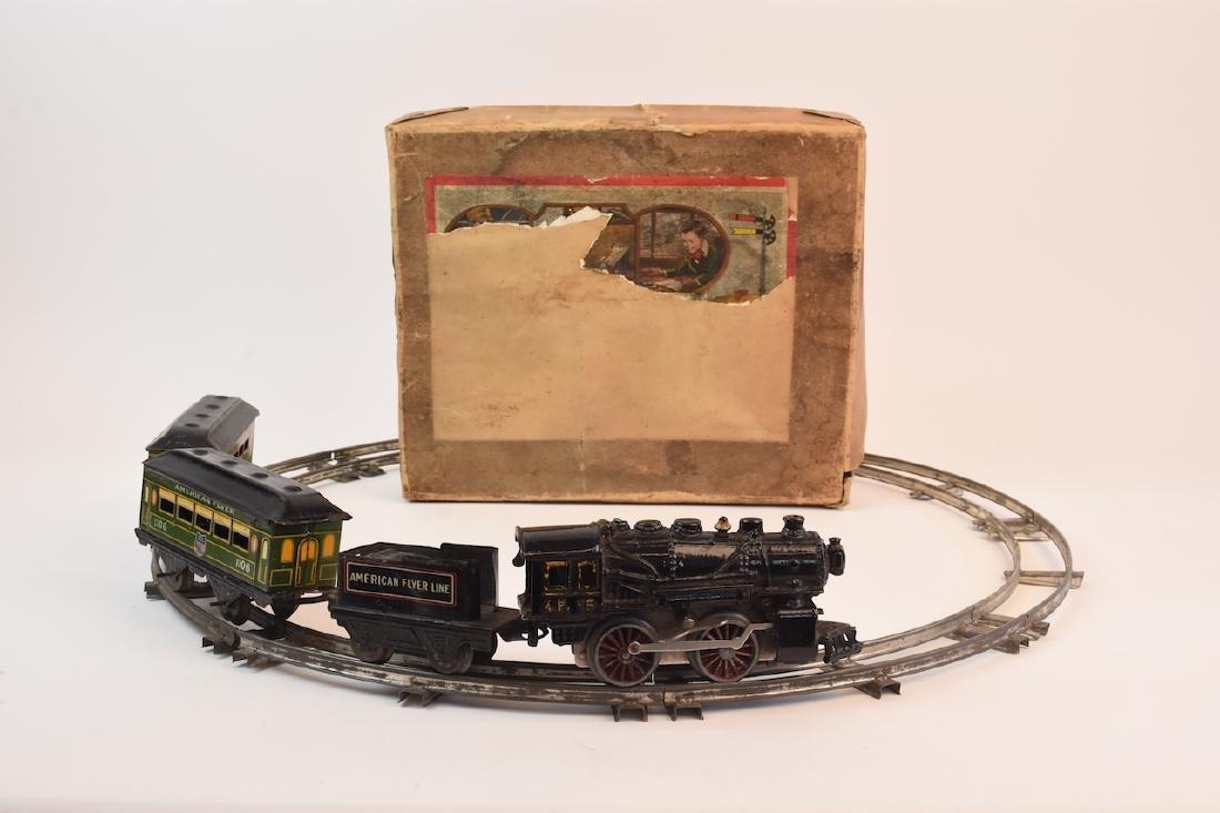 Prewar Tinplate American Flyer Wind-up Train Toy - 2