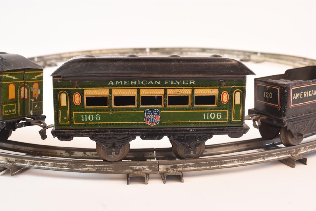 Prewar Tinplate American Flyer Wind-up Train Toy - 5