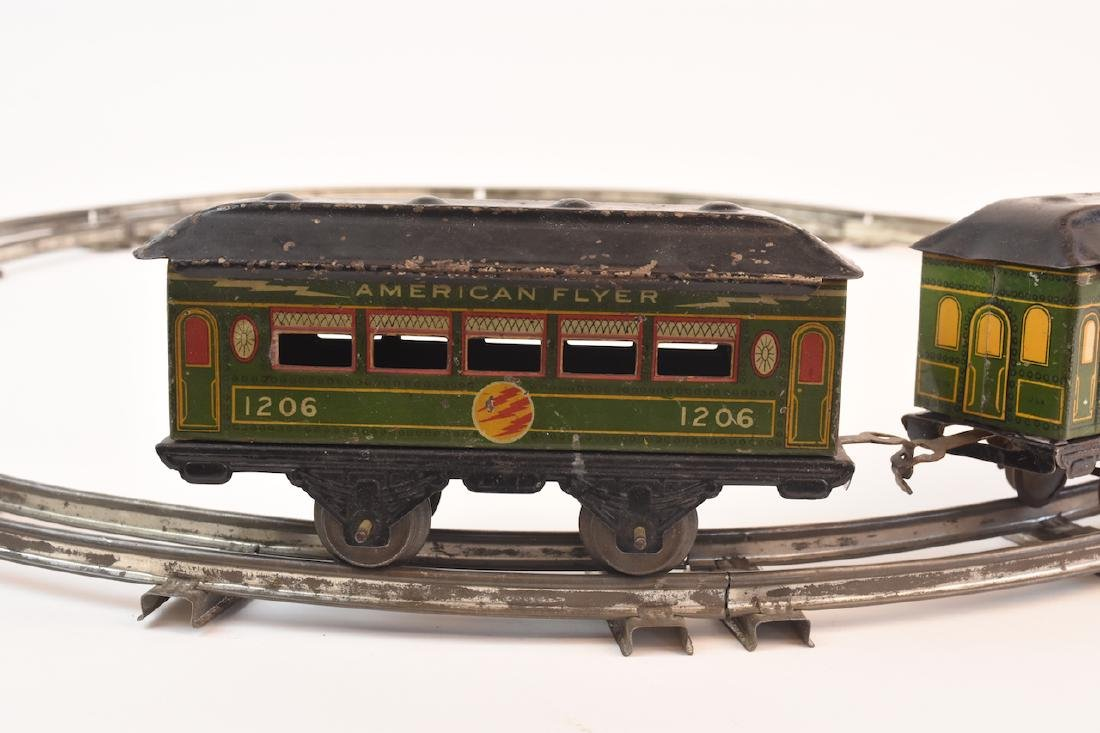 Prewar Tinplate American Flyer Wind-up Train Toy - 6