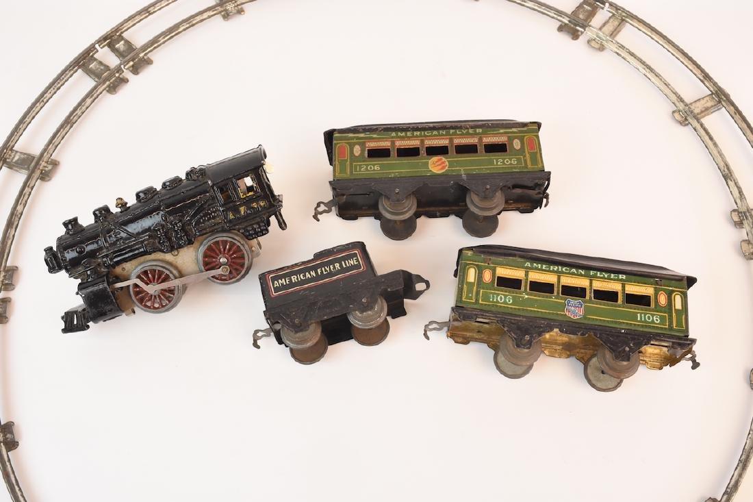 Prewar Tinplate American Flyer Wind-up Train Toy - 9