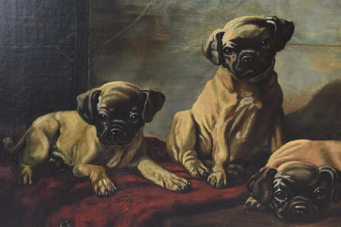 Oil on Board of Puppies For Sale - 3