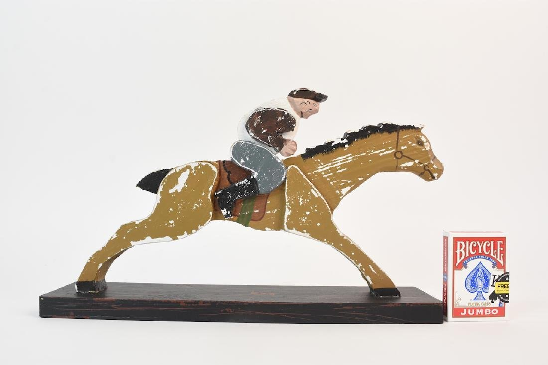 (8) Horse & Jockey Carved Wood Figures - 10