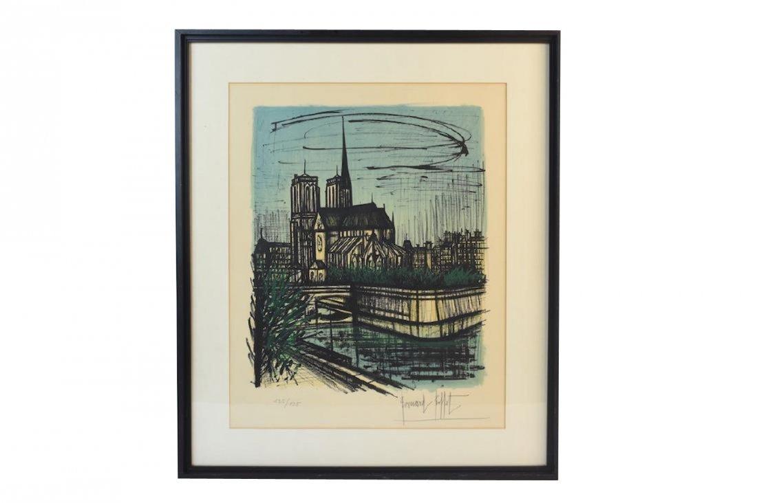 Bernard Buffet Print of Notre Dame, SLR