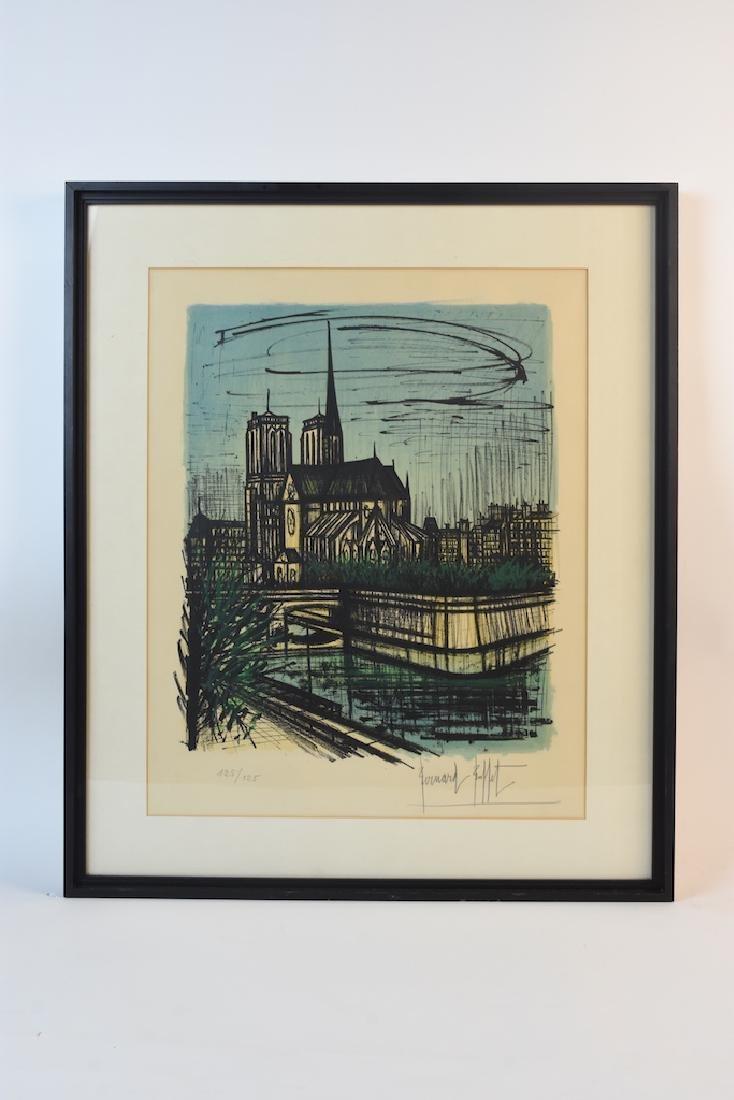 Bernard Buffet Print of Notre Dame, SLR - 2