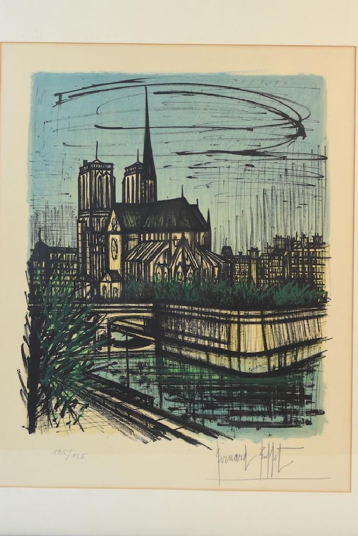Bernard Buffet Print of Notre Dame, SLR - 3