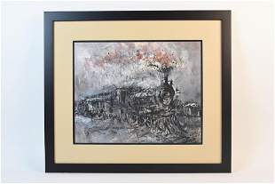 Original Locomotive Painting by Capes SLR