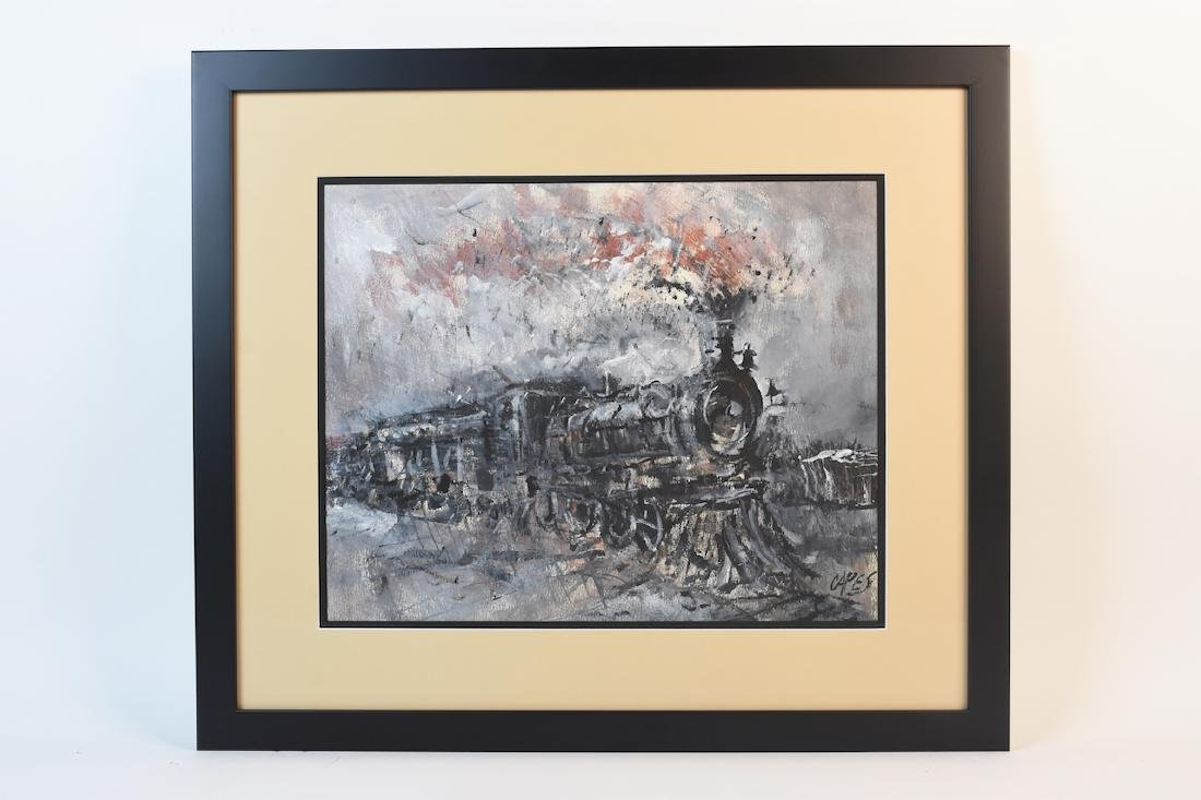 Original Locomotive Painting by Capes, SLR