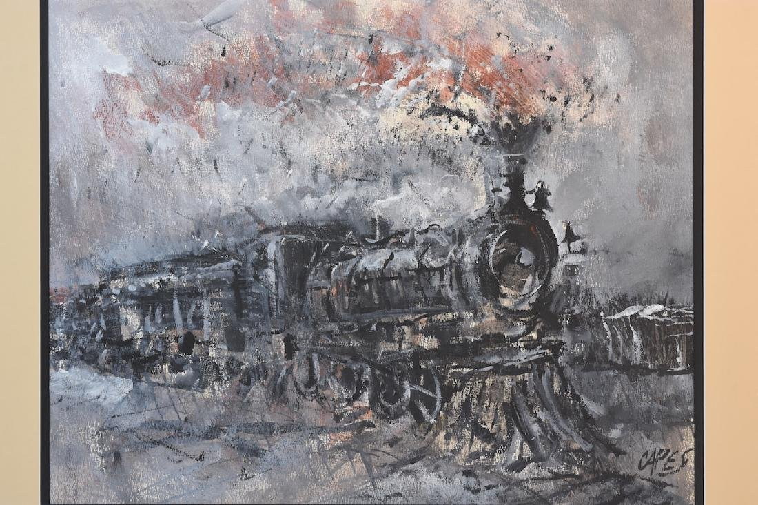 Original Locomotive Painting by Capes, SLR - 2