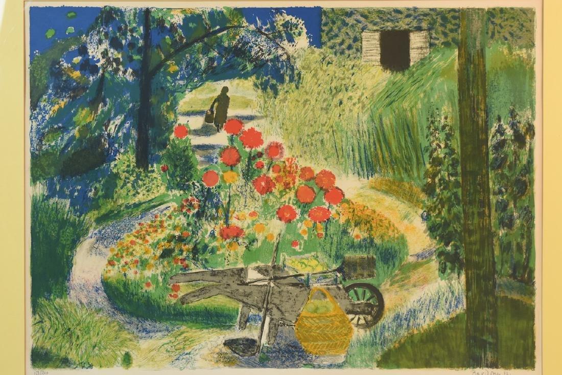 """Guy Bardone """"le Garden"""" Lithograph, SLR - 2"""