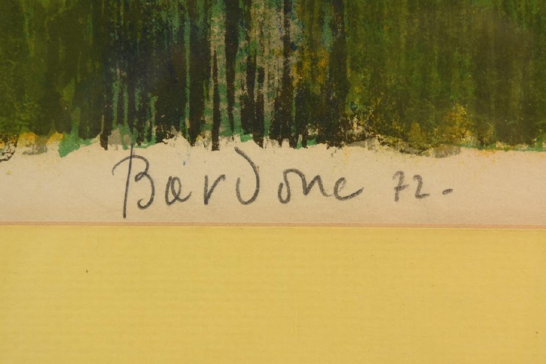 """Guy Bardone """"le Garden"""" Lithograph, SLR - 3"""