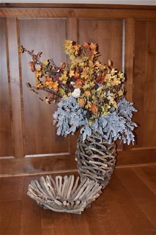 Driftwood Bowl and Vase