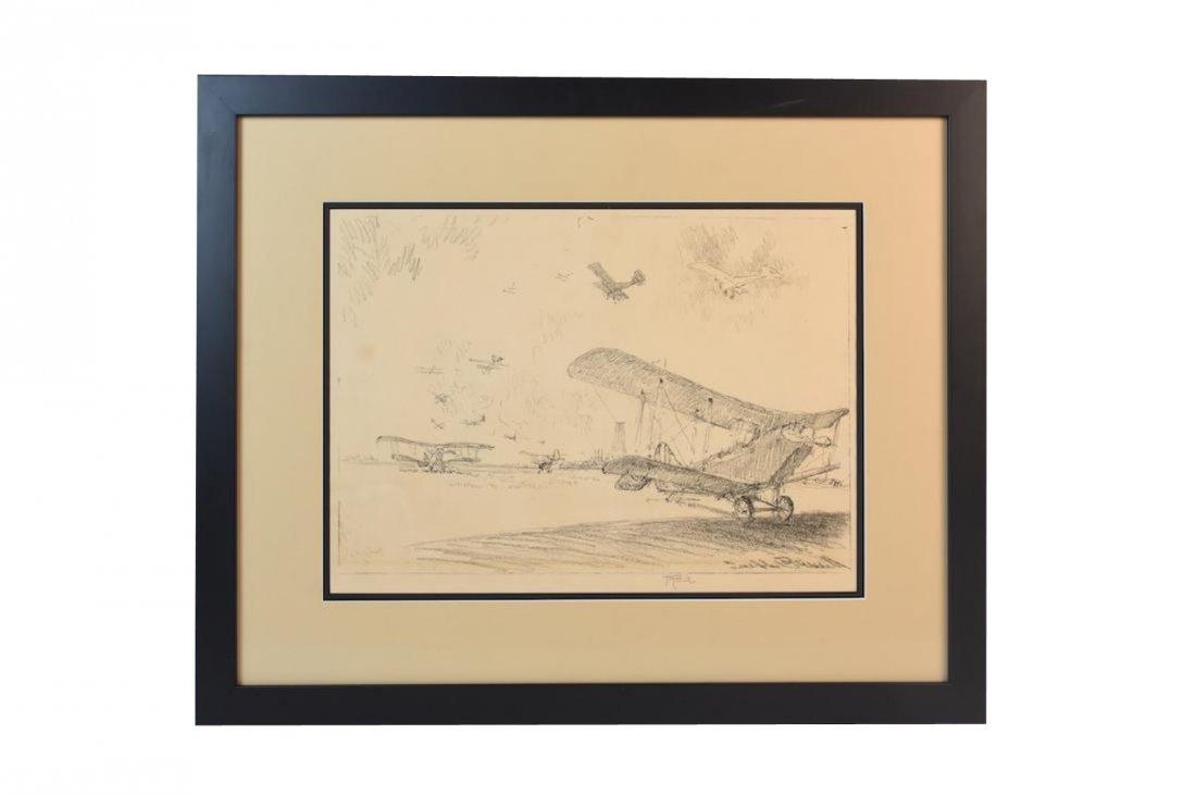 "Joseph Pennell Print ""Birds of War"", w/ C.O.A, SLR"