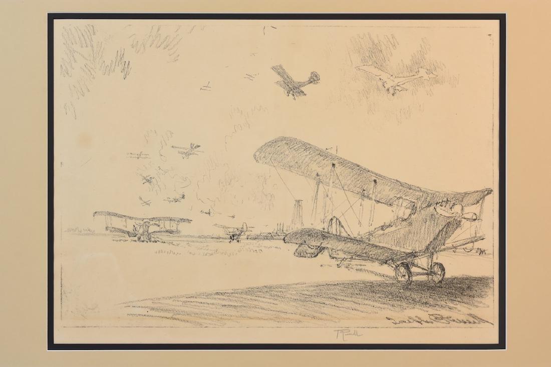 "Joseph Pennell Print ""Birds of War"", w/ C.O.A, SLR - 2"