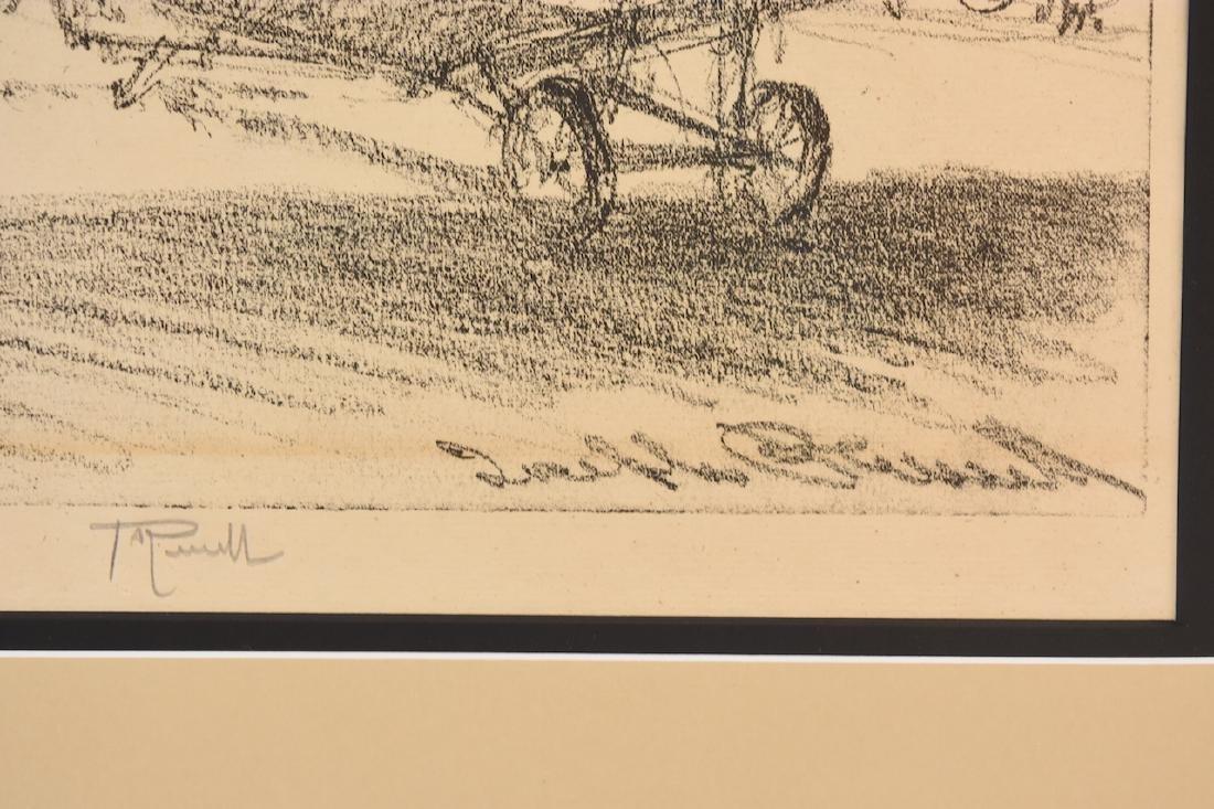 "Joseph Pennell Print ""Birds of War"", w/ C.O.A, SLR - 3"