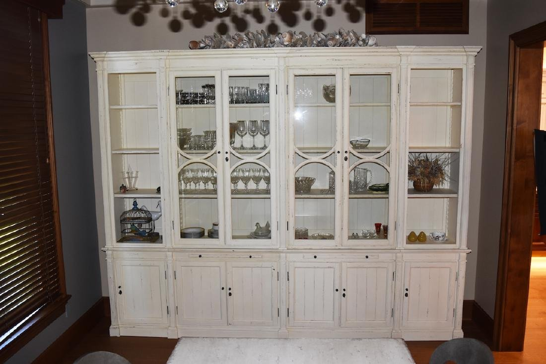 Arhaus Furniture Hand Crafted 6-Panel Hutch & Buffet
