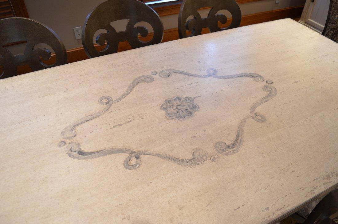 Cerea Old World Italian Pedestal Dining Table w/ 8 - 2