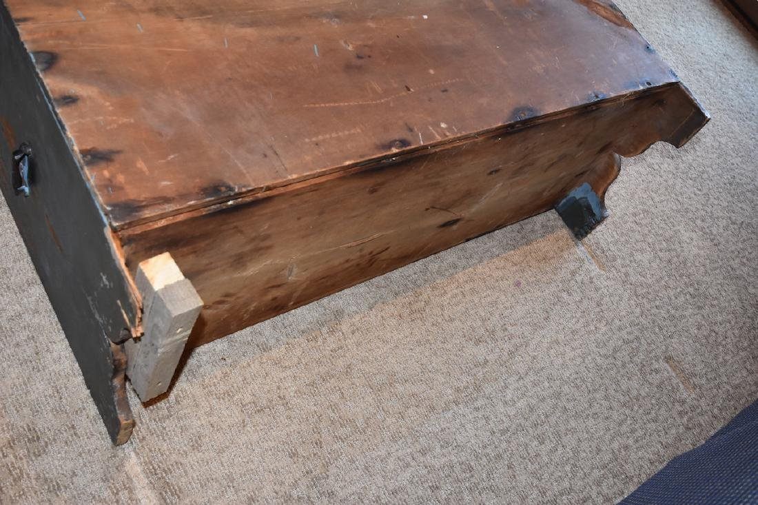 Old Wood Nautical Themed Hand Painted Trunk - 5