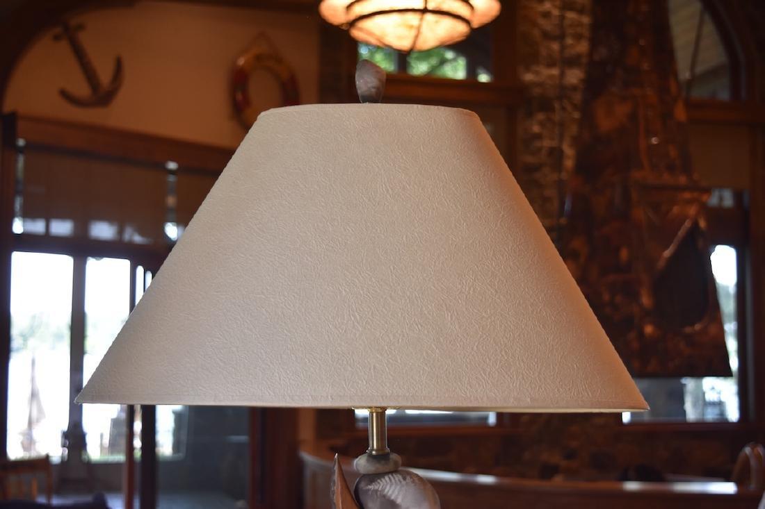 Jan Jaque Signed Stone Harp Floor Lamp - 4