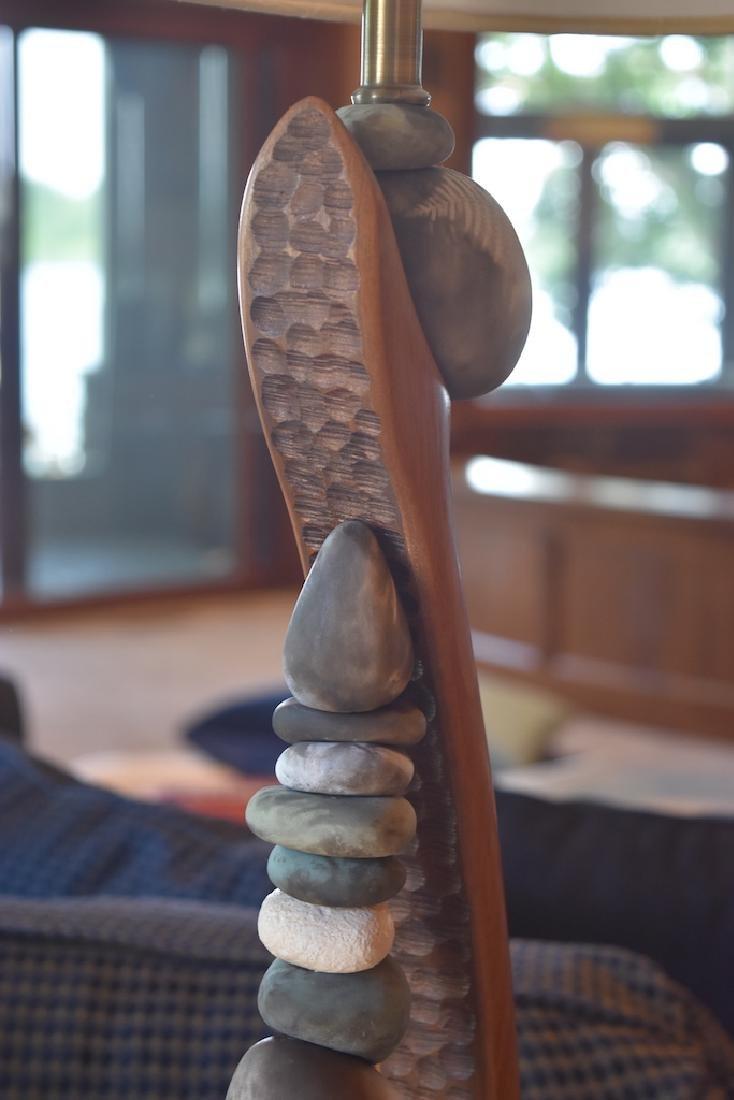 Jan Jaque Signed Stone Harp Floor Lamp - 5