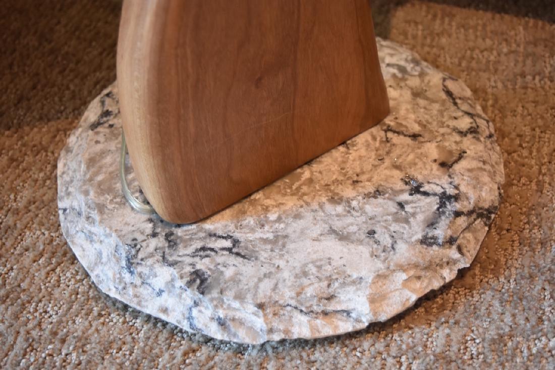 Jan Jaque Signed Stone Harp Floor Lamp - 6