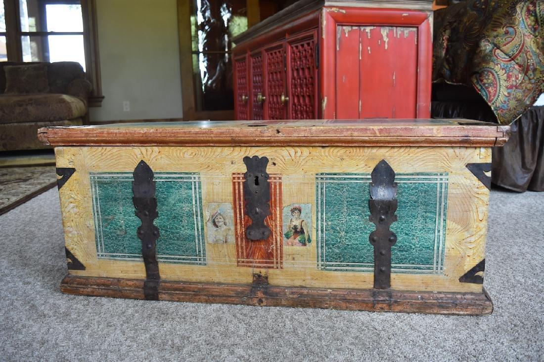 Reclaimed Wood Embellished Trunk