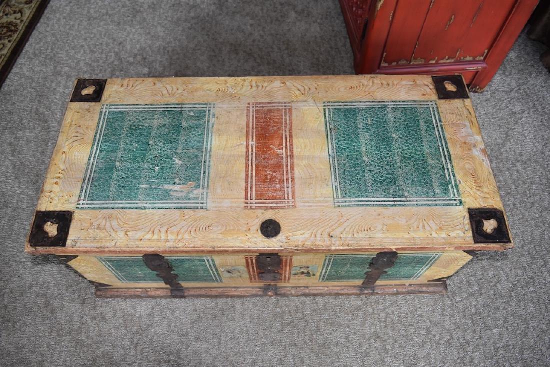 Reclaimed Wood Embellished Trunk - 2