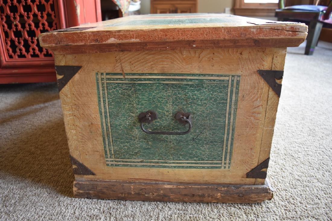 Reclaimed Wood Embellished Trunk - 4