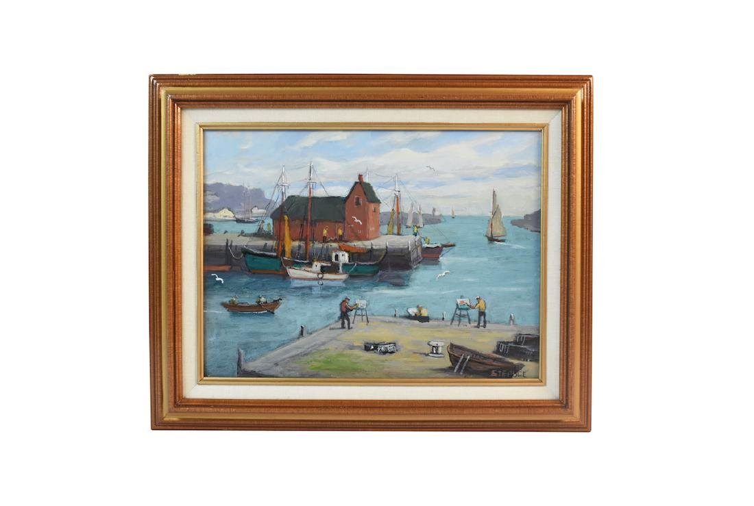 Original Acrylic on Board by Charles Stepule