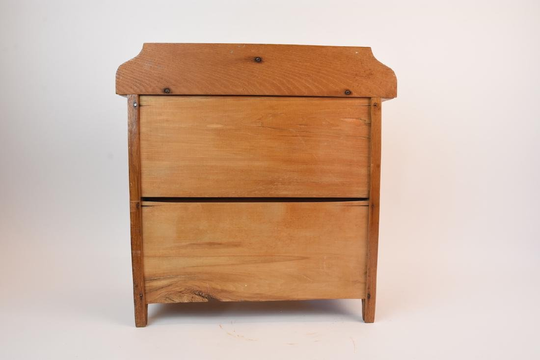 Vintage Oak Doll Size Chest of Drawers - 6