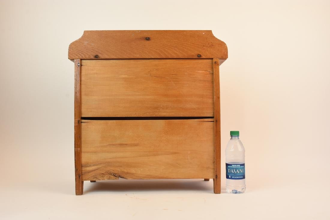 Vintage Oak Doll Size Chest of Drawers - 8