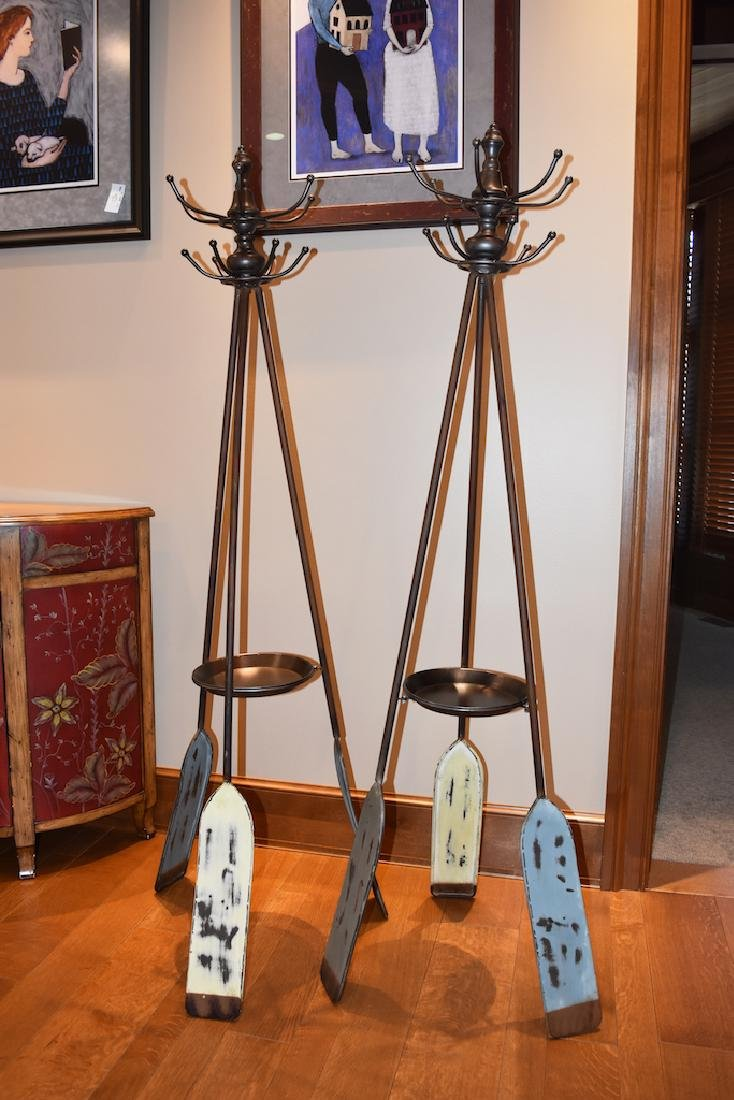 Pair of Nautical Boat Oar Coat Racks