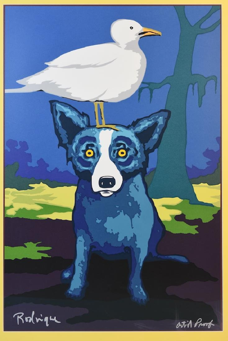 George Rodrigue Blue Dog Pop Art Artist Proof - 2